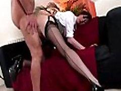 Hot stockings loving mature babe
