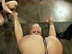 Hot pretty girl dominated in extreme dbl females sex