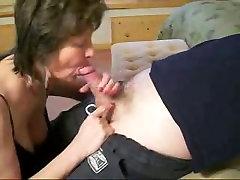 Mature Slut Sucks Neighbors Cock
