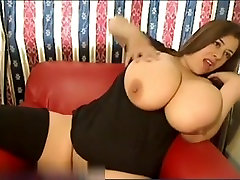 Webcam model with giant tits
