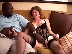 pimp dad with white angel in nylons