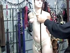 Short-haired cutie acquires spanked - part three