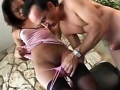 Oriental doxy takes sex-toy and dong in booty