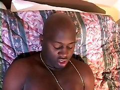 Plus Sized Ebony Babe With Massive Tits