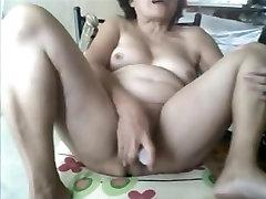 Granny oriental on webcam