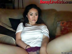 Hot Asian Webcam Girl Fingers Pussy To Orgasm Part 1