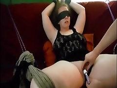 Restrained BBW Screaming orgasm WF