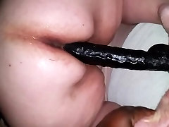 Big-ass mature bbw fucking huge dildo