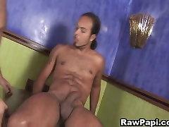 Hot Latino Riding His Partner Huge Dick