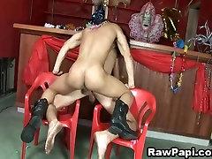 Latino Gays Bareback Sex In Bar