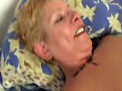 Shorthaired german mature toyed and fucked