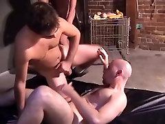 Exotic male pornstars Nate Bruno, Parker Wells and Tom Braddock in fabulous blowjob, glory hole homo sex scene