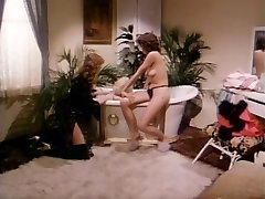 Two horny lesbian cuties in hot vintage sex movie