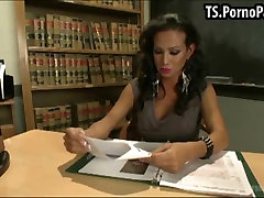 Shemale teacher gets fucked