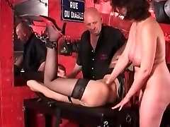 Teaching lesbian babes how to fist fuck