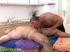 Chubby amateur and bear masseur