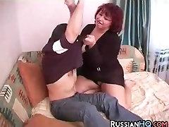 Russian BBW Having Sex