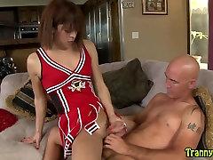 Tranny hooker deepthroats cock