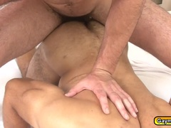 Hairy Hunk twinks are hungry in sucking cock and fucks hard in the ass