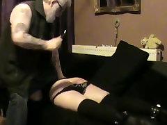 BDSM...Slave spanked then bound