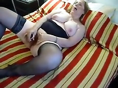 Chubby Mature in Stockings