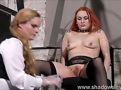 Lesbian play piercing punishment and extreme amateur bdsm of Dirty Mary in needle torture and hardcore masochist en