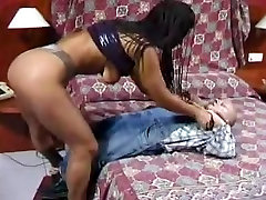 Savoury Latina boned in the butt by a midget