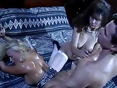 Kinky pornstar Stacey in hot group sex action