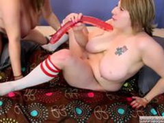 Bbw Lesbians Exposed on Webcam