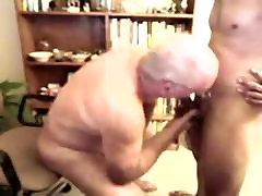 Old men sucking a younger men