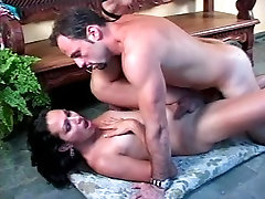 Guy drills tranny with small tits