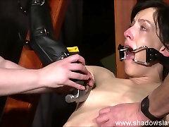 Enslaved painslut Elise Graves whipping in hard bdsm