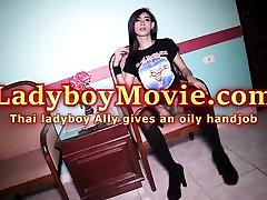 Ladyboy Ally Frottage and Handjob