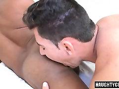 Latin gays dp with eating cum