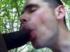 Throating black cock