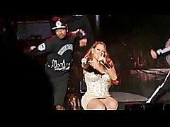 Mariah Carey upskirt nude panty shots zoomed