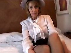 Mature Lady with Stockings Over Her Tights