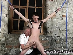 Blow job gay bondage and suit Sean McKenzie is bound up and