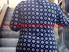 Wide Ass Black Granny Upskirt