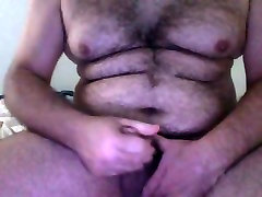 Italian Bear Masturbates Cum