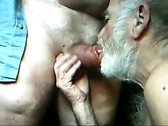 One mature old man suck the other mature old man&039;s dick