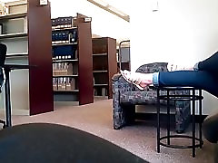 LONGER CLIP OF COLLEGE GIRL IN LIBRARY