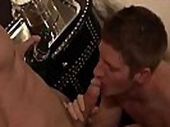 European gay oral sex with facial