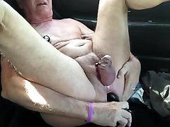Video 69 - Parking Lot Pumped Nips & Big Butt Plug