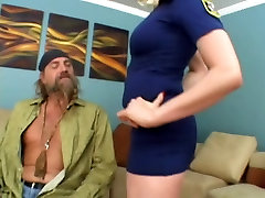 Blonde Officer Gets Serviced By The Prisoner!