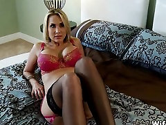 Horny Big Tit Blonde Wife in Stockings