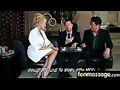 Deepthroat Blowjob From Big Tits Massage Girl 3