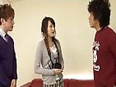 Oriental schoolgirl finger fucking act