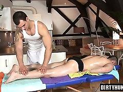 Muscle daddy anal sex and massage
