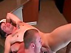 Tight gay ass hole drilled hard